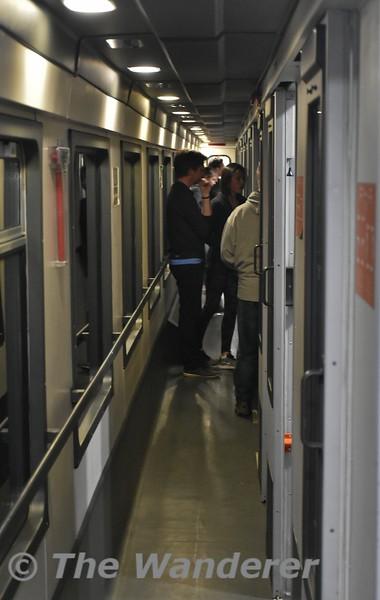 Couchette carriage corridor. Tues 20.03.18