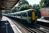 The 0916 London Victoria to Sutton arrives at Carshalton Beeches with 377624 + 377706. Fri 29.06.18