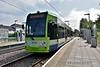 Tramlink 2535 at Mitcham Jct. with a Wimbledon tram. Thurs 28.06.18