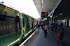 The 0945 Epsom to London Bridge just after arriving at London Bridge Platform 15. Fri 29.06.18