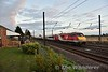 91121 passes the Sidings Hotel. 1700 Edinburgh to London Kings Cross. Fri 07.09.18