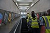 Highgate - Wilderness Walkabout Hidden London tour. Escalator Shaft to street level. Fri 29.06.18
