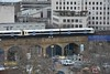The view from the London Eye as a 466 leads a pair of 465's off Hungerford Bridge. Fri 16.03.18