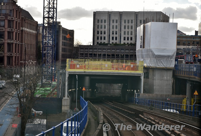 The incline down to the Bank Branch tunnels is currently being built over. Thurs 15.03.18