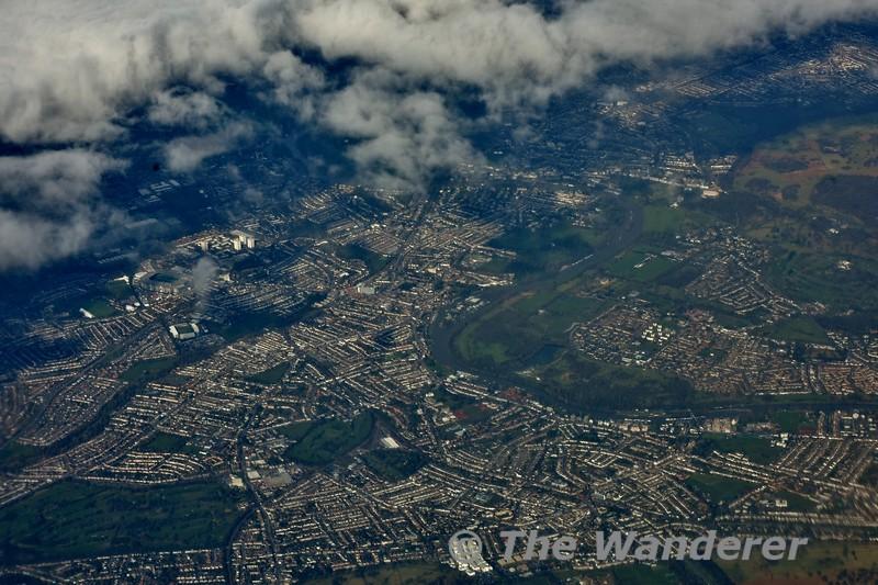 Flying over Twickenham. Thurs 15.03.18