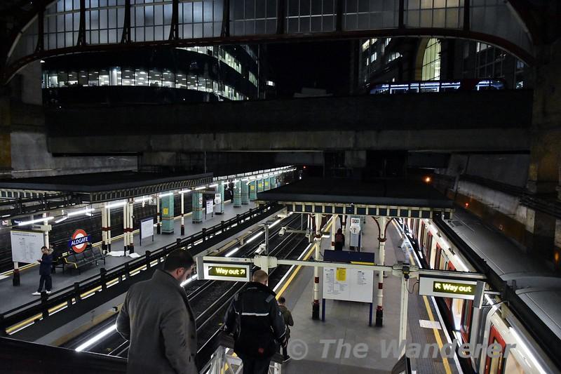 Aldgate Station. Thurs 15.03.18
