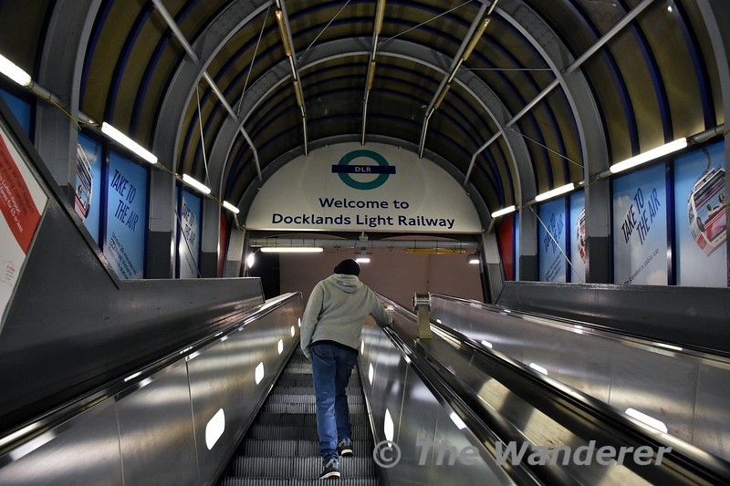 The entrance to Tower Gateway, the original City terminus of the DLR. Thurs 15.03.18