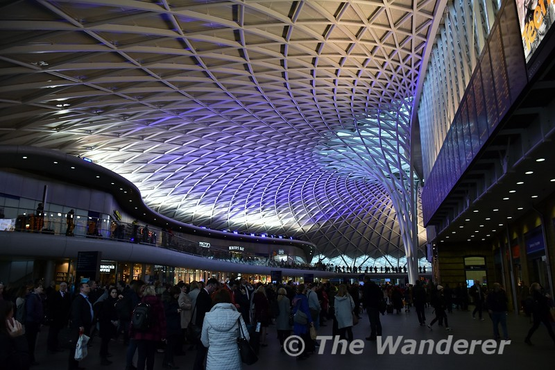The new passenger concourse area at Kings Cross which is built on the west side of the station. Thurs 15.03.18