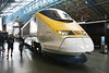 Eurostar Power Car 3308 on display in the Great Hall at the National Railway Museum. Sat 08.09.18