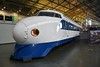 Shinkansen Leading Car 22-141, 'bullet train', built by West Japan Railways, 1976, withdrawn from service in October 2000 is now on display in the Great Hall at the National Railway Museum. Sat 08.09.18