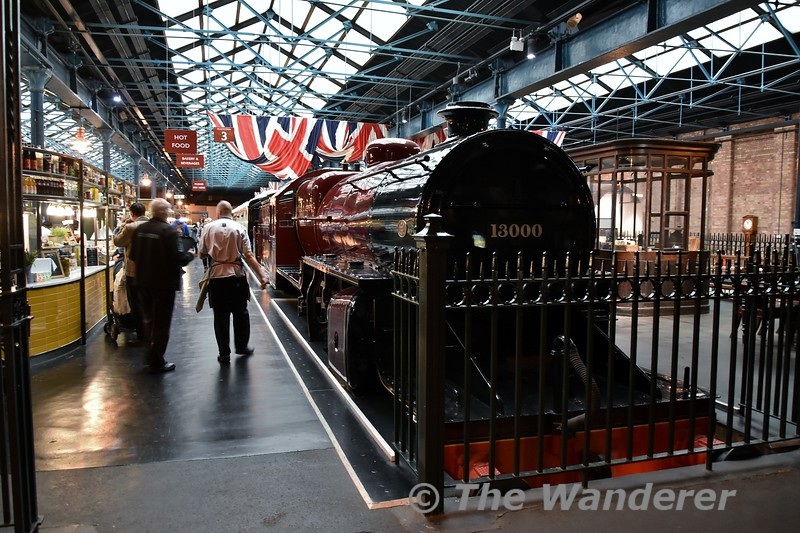London Midland & Scottish Railway 'Crab' 2-6-0 steam locomotive, No 13000 on display in the Station Hall at the National Railway Museum. Sat 08.09.18
