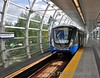 The Skytrain in Vancouver. Main Street - Science World. Sun 29.09.19