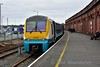 175110 stands at Platform 3 with the 1232 Holyhead to Maesteg. Fri 31.05.19