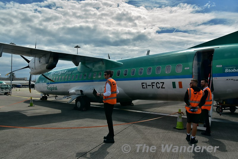 Stobart Air EI-FCZ on stand in Dublin Airport with EI3282 to Bristol. Fri 07.06.19