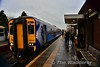 156505 at Barrhead with the 1443 Glasgow Central to Kilmarnock. Tues 26.11.19