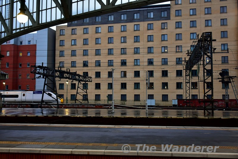 Looking at the rear of Jury's Inn Hotel in Glasgow. Tues 26.11.19