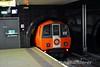 Glasgow Subway train at St Enoch. Tues 26.11.19