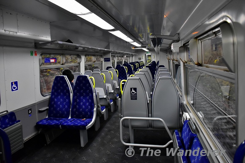 156467 interior showing the refurbished Scotrail interior on the 156 fleet. Tues 26.11.19
