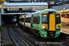 377607 + 377626 arrives into West Croydon with the  2011 Sutton (Surrey) to London Victoria. Thurs 09.05.19