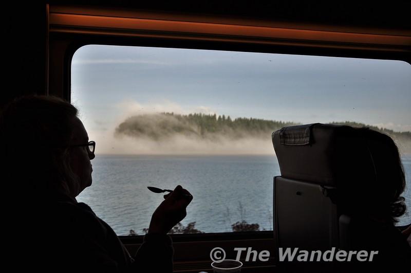 Views from the train at the Tacoma Narrows. Wed 25.09.19