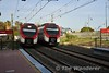 As 464217 + 464717 depart from La Colina with the 1740 Fuengirola to Malaga Central we see 464711 + 464211 arriving with the 1750 Malaga Central to Fuengirola. Mon 02.03.20