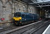 92006 stabled at Edinburgh. Due to Storm Ciara, Caledonian Sleeper decided to cancel all their services on Sunday night / Monday morning throwing my plans of overnighting to London on the Sleeper into disarray. Sun 09.02.20