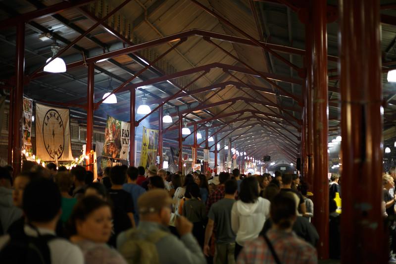 Victoria, Melbourne - Food stalls at Queen Street Night Market
