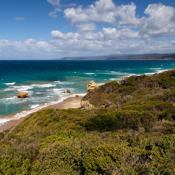 Victoria, Great Ocean Road - View of cape in southern ocean