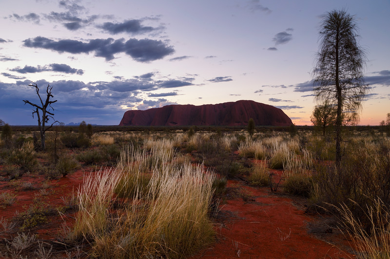 Northern Territory, Uluru - Dark Uluru sunset