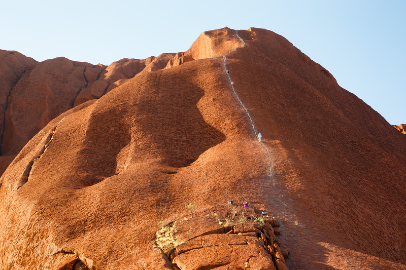 Northern Territory, Uluru - People climbing Uluru