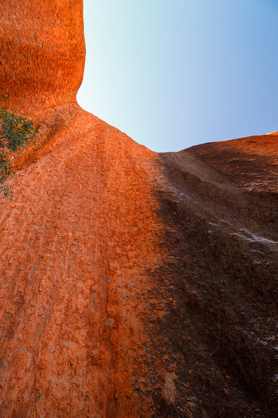 Northern Territory, Uluru - Dry waterfall on Uluru