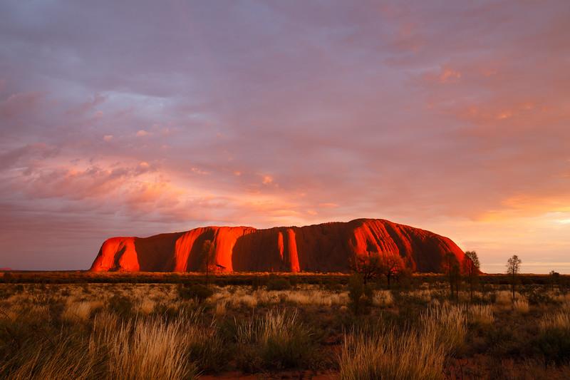 Northern Territory, Uluru - Sunrise with strong side light