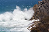 New South Wales, Byron Bay - Waves crashing against shore