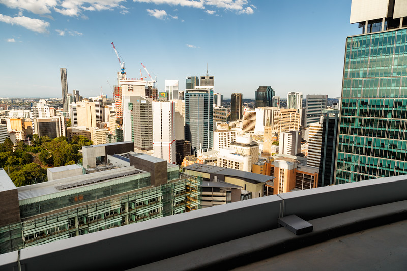 Queensland, Brisbane - City view from patio