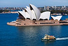 New South Wales, Sydney - Opera House and boat