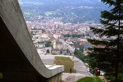 Olympic ski jump overlooking Innsbruck