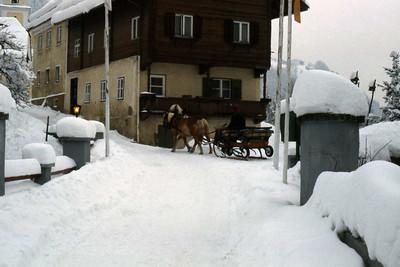 Horse drawn sleigh, Kufstein, Austria