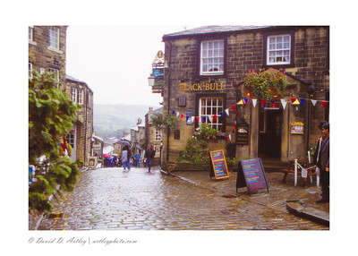 Haworth Street Scene, Yorkshire, England