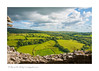 view from ruins of Carreg Cennen Castle, Brecon Beacons National Park, Wales