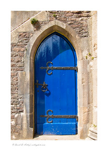 Blue Door, The Bishop's Palace, Wells, England