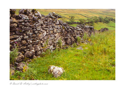 Rock walls in the Yorkshire Dales, England