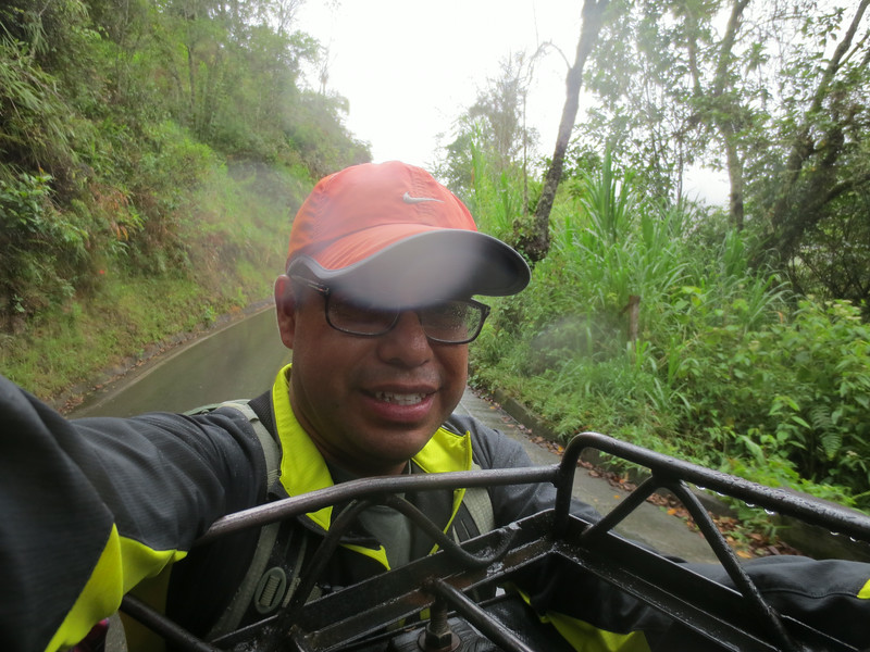 On jeep on the way to Cocora