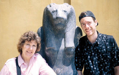 Mom and Jeremy with Lion Head copy