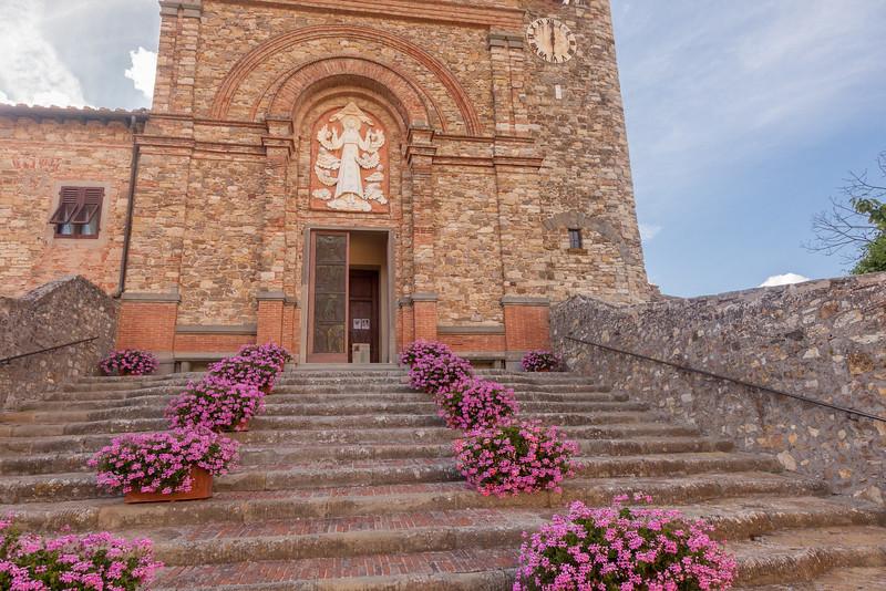Panzano Church Steps 6558