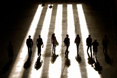 Shadows at the Tate 3526bw