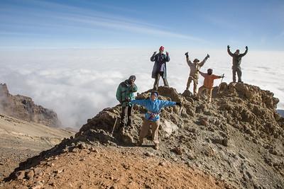 Kili Climbers Above Arrow 3954