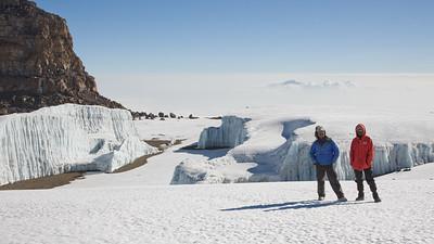 Kili Guides on Furtwangler Glacier 4062