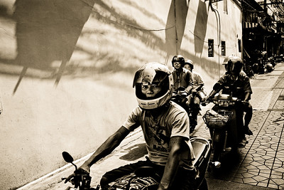 Bangkok Bikers 2422bw