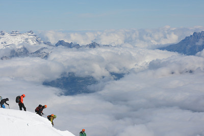 Above the Clouds (Aiguille du Midi) --Chamonix