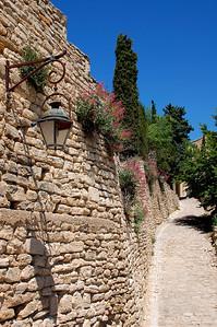 Stonewalled Village Path